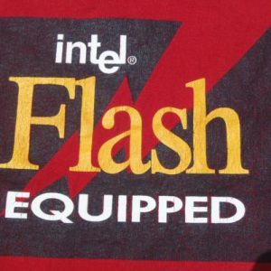 Vintage 1990s Intel Flash Equipped Red T-Shirt XL