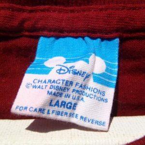 Vintage 1980s Walt Disney World Garnet Souvenir T-Shirt M/L