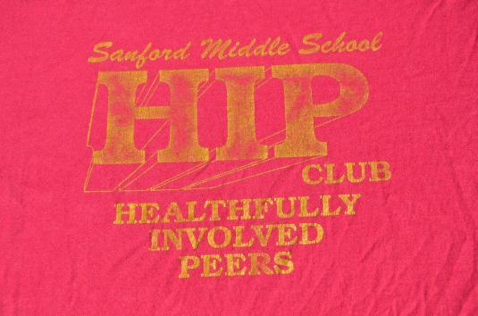 Vintage 1980s Sanford Anti-Drug HIP Club T-Shirt M/L