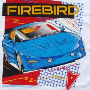 Vintage 1990s Pontiac Firebird Trans Am White T Shirt XL
