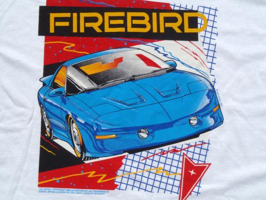 Vintage 1990s Pontiac Firebird Trans Am White T Shirt XL