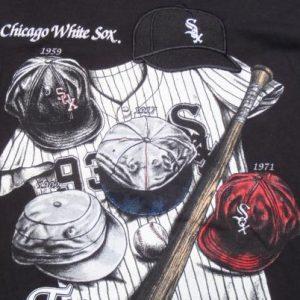 Vintage 1990s Black Chicago White Sox MLB Cotton T Shirt XL