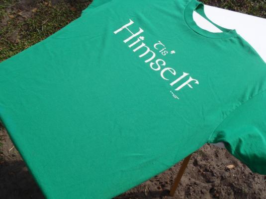 Vintage 1980s Tis Himself Irish Green T Shirt XL