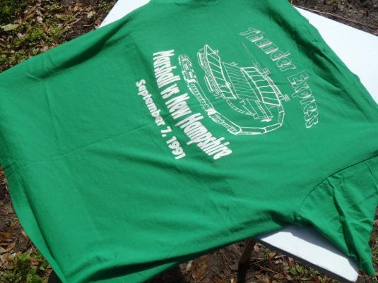 Vintage 1991 Marshall University Football Green T-Shirt XL