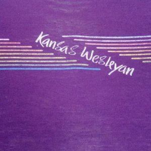 Vintage 1980s Purple Kansas Weslyan University T Shirt S