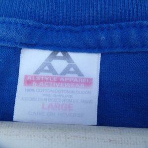 Vintage 1990s Santana Supernatural Tour Blue Concert T-Shirt
