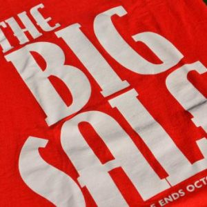 "Vintage 1990s ""The Big Sale"" Christian Bookstore T-Shirt XL"