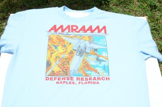 Vintage 1992 AMRAAM F-16 Light Blue T-Shirt
