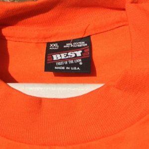 Vintage 1990s Winter Park City of Homes Orange T-Shirt XXL