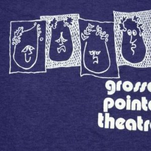 Vintage 1980s Grosse Pointe Theatre Navy T Shirt M