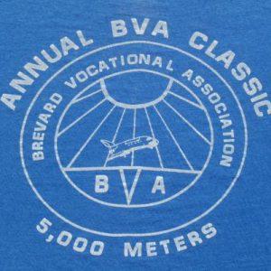 Vintage 1980s BVA Annual Classic Blue T Shirt M/L