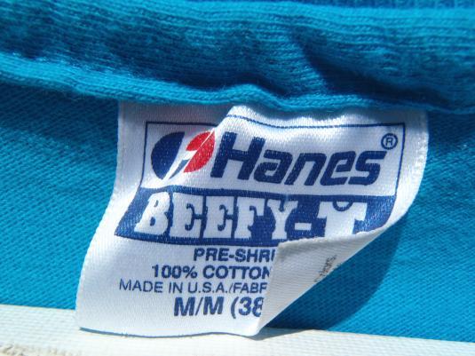Vintage 1990s Gecko Hawaii Aqua Blue T-Shirt M