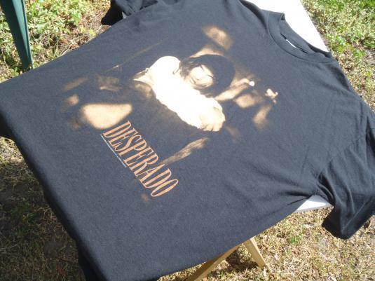 Vintage 1995 Desperado Antonio Banderas Movie Black T Shirt