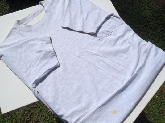 Vintage 1995 Ron Jon Surf Shop Gray Cotton Pocket T-Shirt L