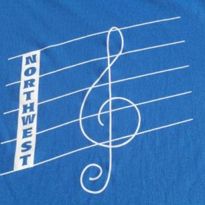 Vintage 1990s Northwest Treble Clef T-Shirt M