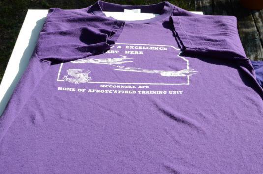 Vintage 1980s McConnell Air Force Base Purple T Shirt XL