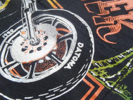 Vintage 1990 Bike Week Florida Black Pocket T-Shirt S