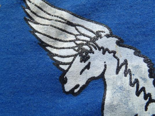 Vintage 1980s US Army AVSCOM Blue Screen Stars T Shirt M