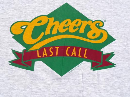 Vintage NOS 1990s Gray Cheers Last Call Television T Shirt L