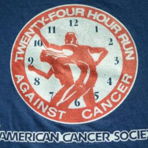 Vintage 1980s American Cancer Society Run Navy T-Shirt XL