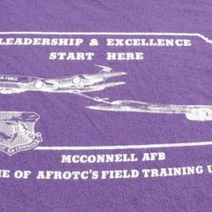 Vintage 1980s McConnell Air Force Base Purple T Shirt XL
