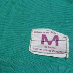 Vintage 1960s Green Michigan State Cotton Jersey T-Shirt M