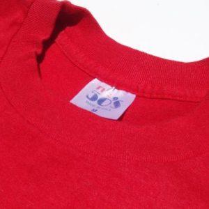 Vintage 1980s Red Cheerleading Spirit T-Shirt M