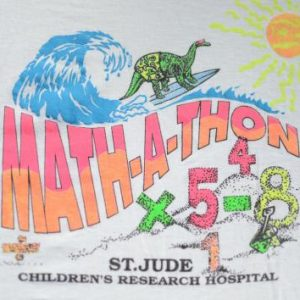 Vintage 1980s St. Judes Math-A-Thon White T-Shirt M/L