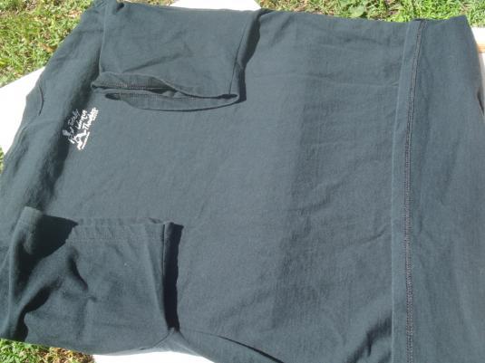Vintage 1990s Totally Unique Thoughts Black Cotton T-Shirt L