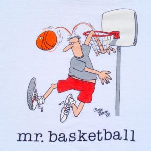 Vintage 1988 White Mr. Basketball Jim Benton T Shirt XL