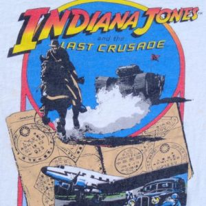 Vintage 1989 Indiana Jones Last Crusade Cotton T Shirt M