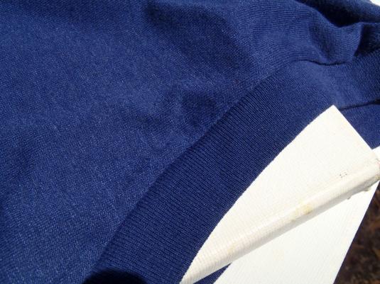 Vintage 1980s Sleeveless Blank Muscle Shirt Navy T-Shirt L