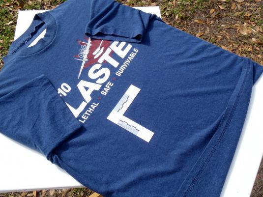 Vintage 1980s A-10 Warthog LASTE Navy Blue T Shirt M