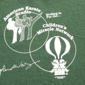 Vintage 1994 American Karate Studios Green T Shirt L