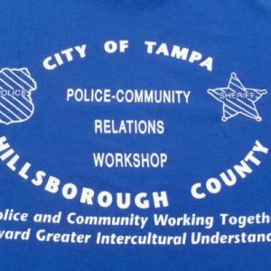 Vintage 1980s Blue City of Tampa Police Department T-Shirt M
