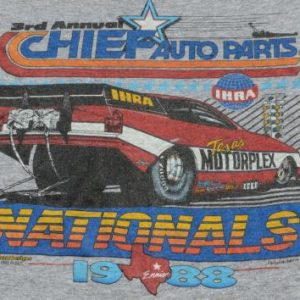 Vintage 1988 IHRA Nationals Racing Rayon Blend T-Shirt L