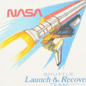 Vintage 1980s Nasa Space Shuttle Yellow T-Shirt M