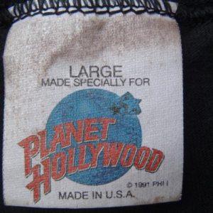 Vintage 1991 Planet Hollywood Orlando Black Cotton T-Shirt L