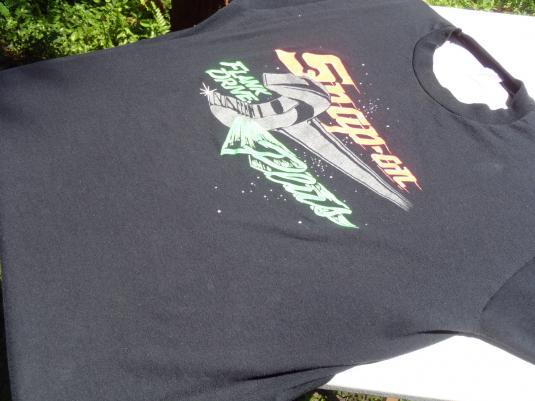 Vintage 1980s Snap On Tools Flank Drive Black T-Shirt XL