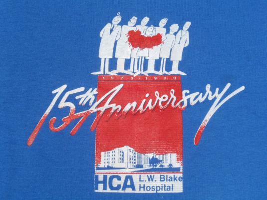 Vintage 1988 Blake Hospital 15th Anniversary T-Shirt L/XL