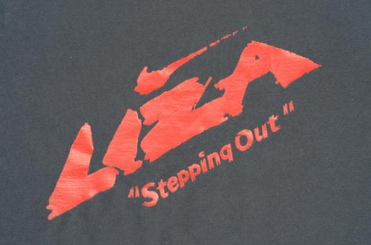 Vintage 1991 Navy Blue Liza Stepping Out Movie T Shirt L