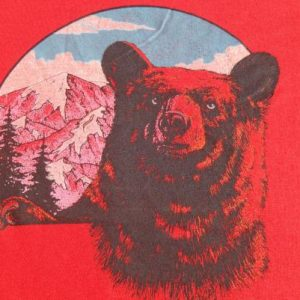 Vintage 1980s Red Bear T-Shirt