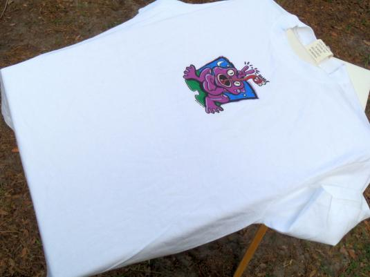 Vintage NWT 1990s White Peace Frogs Fly Catcher T Shirt XL