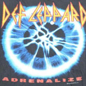 Vintage 1992 Def Leppard European Tour Black T Shirt XL