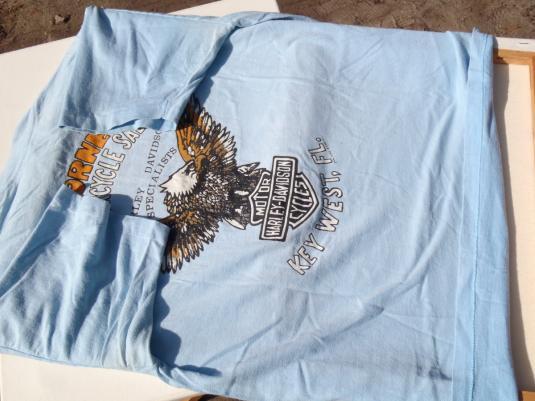 Vintage 1980s Harley Davison Horne's Florida Keys T Shirt L
