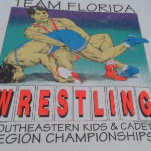 Vintage 1980s Team Florida Wrestling T-Shirt S/M