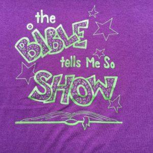 Vintage 1990s The Bible Tells Me So Show Purple T-Shirt L