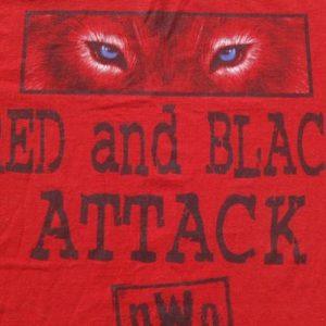 Vintage 1998 WCW nWo Red and Black Wrestling T Shirt L