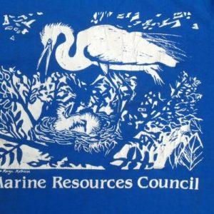 Vintage 1980s Marine Resources Council Blue T-Shirt M