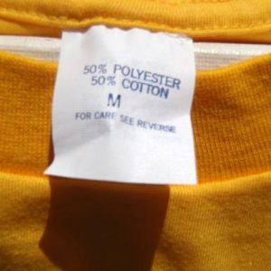 Vintage 1980s Yellow Raccoon Wildlife T-Shirt M/L